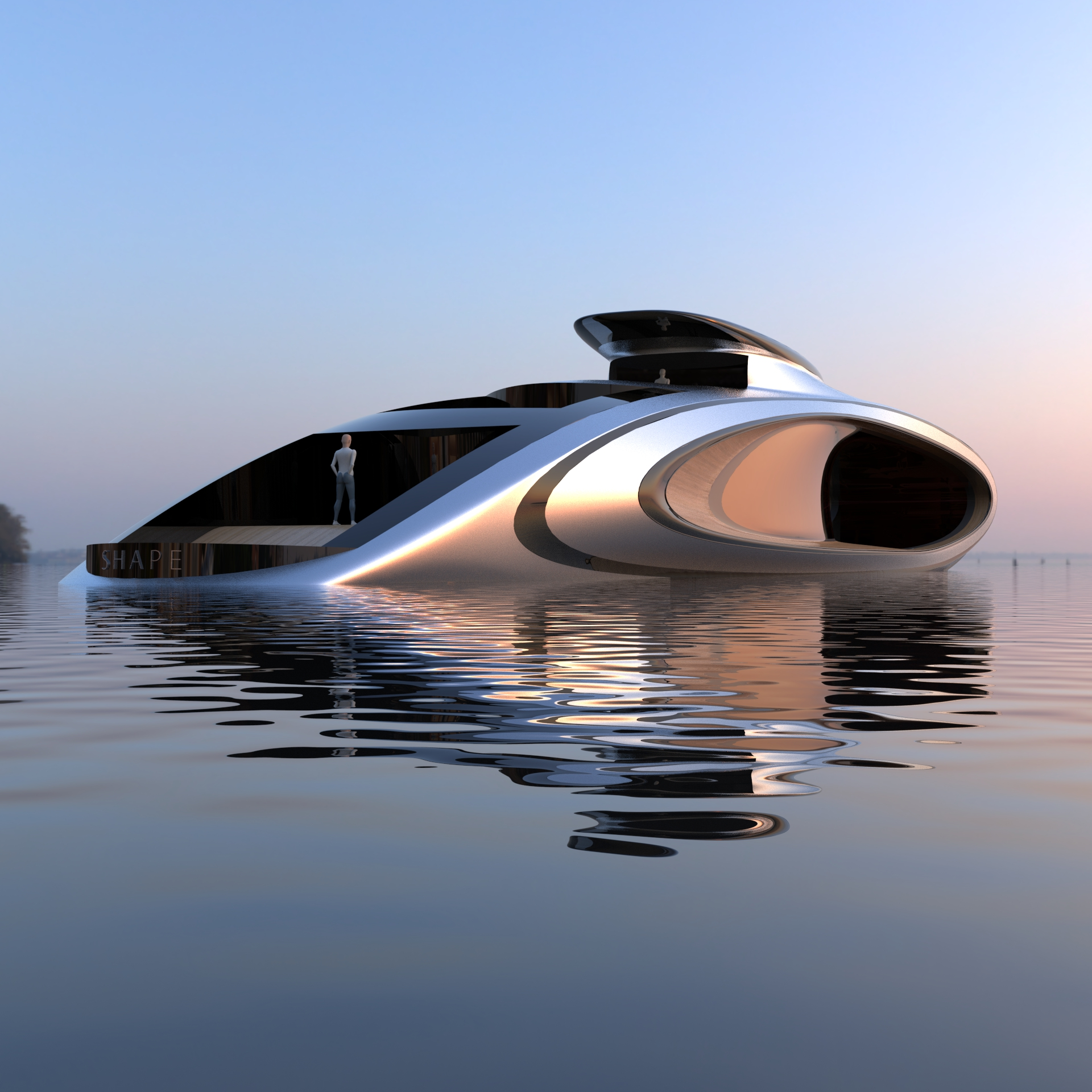A Colossal Hole Enables a New Hybrid Superyacht to Outclass All Rivals
